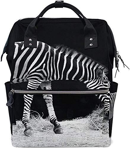 Mummy Backpack Zebra luiertas mummy rugzak babyverzorging moeder stijlvolle print met grote capaciteit waterdichte reis-muti-functie Papa luiertas rugzak