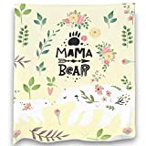 Loong Design Mama Bear Throw Blanket Soft Fluffy Premium Sherpa Fleece Blanket 50'' x 60'' Fit for Sofa Chair Bed Office Travelling Camping Gift