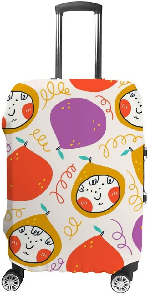 ZHONGJI Luggage Cover Colorful Pears Boy's Carto Ranking TOP14 NEW before selling Little Faces