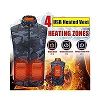 XRQ 8つの加熱パッド冬の屋外の男性電気加熱ベストUSB加熱ベスト冬のサーマルクロスフェザーハンティングジャケット