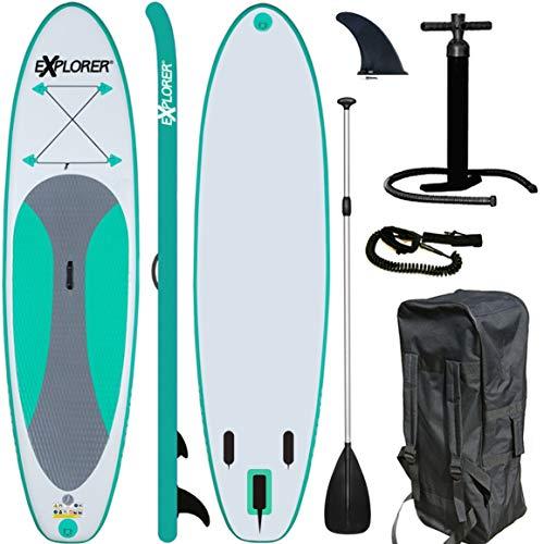 EXPLORER SUP Board Stand Up Paddle Surfboard aufblasbar Paddel ISUP ALF2 300 cm