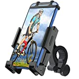 WOHOOH Universal Bike Phone Holder, Motorcycle Phone Mount, 360° Rotation Adjustable Bike Phone Mount for Handlebar- Cycling Clamp Scooter Phone Clip Fits All 4.7'-6.7' Phones