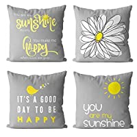 【Size & Material】: 4 pcs of 18x18 Inch pillow covers without inserts.Made of 100% durable and soft short plush fabric, very enviromental and soft. 【Fuctions】: Suitable for car,bed,sofa,seat,couch,bench,etc.Good decorations for living room,bedroom,par...