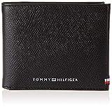 Tommy Hilfiger Business Mini CC Wallet, Productos de cuero pequeños para Hombre, Negro, One Size