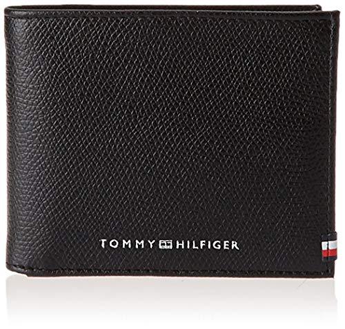 Tommy Hilfiger Mini CC Portefeuille en cuir pour homme Noir Taille unique
