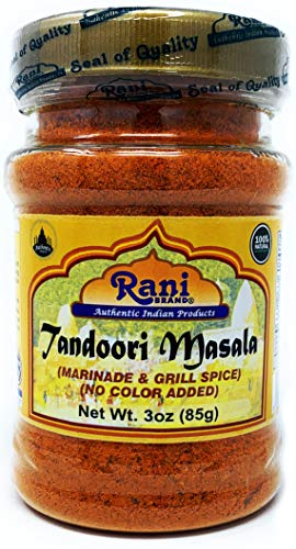 Rani Tandoori Masala (Natural, No Colors Added) Indian 11-Spice Blend 3oz (85g) ~ Salt Free | Vegan | Gluten Friendly | NON-GMO