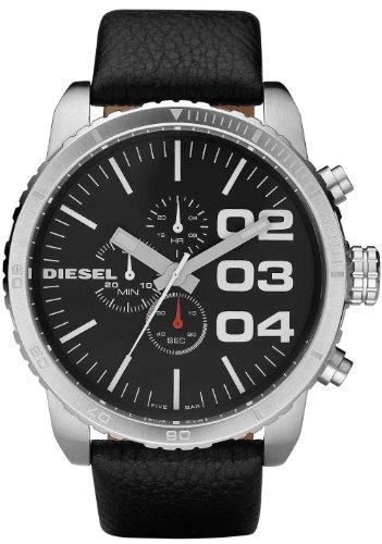 Diesel Herren Chronograph Quarz Uhr mit Leder Armband DZ4208