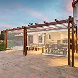 LIANG Persianas enrollables impermeables interior/exterior/porche con todos los accesorios, persianas enrollables transparentes, paneles de plástico PVC para exteriores (tamaño: 145 x 175 cm)