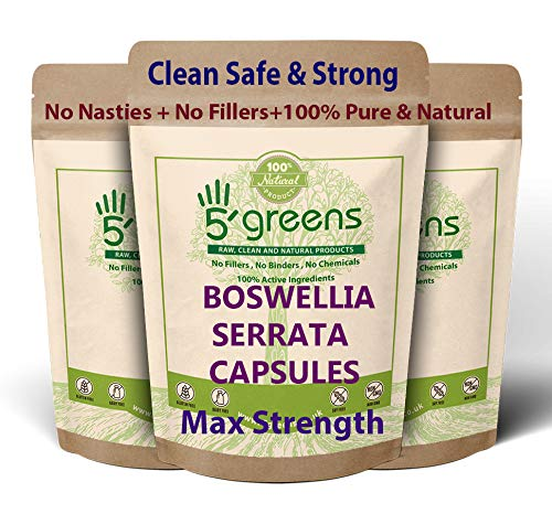Boswellia Serrata Capsules 10:1 Extract (4600mg Equivalent) | Indian Frankincense | 90 Vegetarian Capsules| Joint Care Supplement | Natural Anti INFLAMMATORY | 5greens (90)