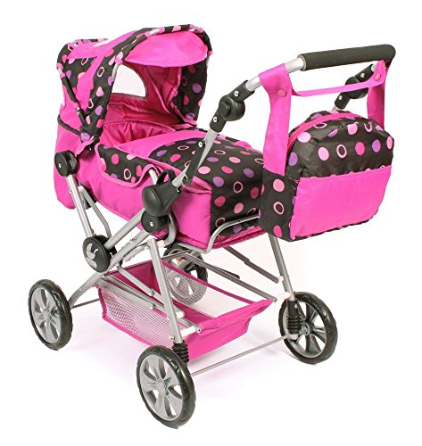 Bayer Chic 2000 - Grote combi-poppenwagen Road Star, collectie 2017 Pink Balls