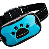 HUMANE BARK COLLAR WITH 2 MODES - provides effective performance with sound (beeps) and 7 safe vibration modes. It helps your dog understand that barking not desirable. You can correct your dog's behavior with this training barking collar. RECHARGEAB...