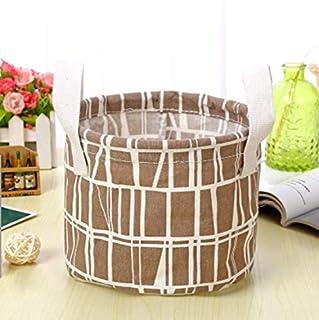 La boîte de finissage de Panier de Stockage de Divers de boîte de Stockage de Tissu de Panier de Rangement de Brown 18 * 14Cm