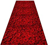 WANGSS Abstract Runners Rug Rugs for Hallway Modern Non Skid 3D Rose Petal 6mm Entry Rugs Breathable Soft Carpet for Living Room Restaurant Aisle-60x100cm