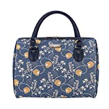 Signare Tapestry Duffle Bag Overnight Bags Weekend Bag for Women with Jane Austen Blue Design (TRAV-AUST)