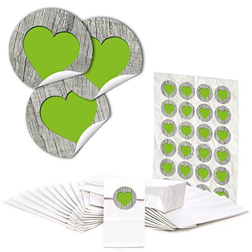 48 bolsas de papel blanco para pastas con inserto de pergamino (7...