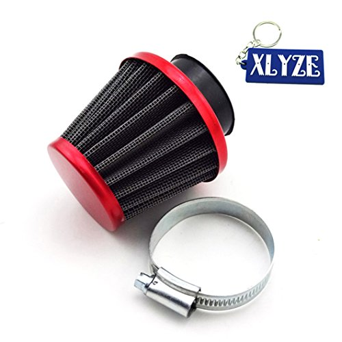 xlyze rot 38 mm Luftfilter für 50 cc 70 cc 90 cc 110 cc 125 cc Pit Dirt Monkey Bike ATV Quad GY6 50 cc QMB139 Motor ATV Go Kart Moped Scooter