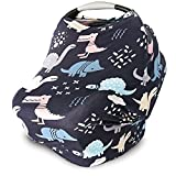 Car Seat Cover for Babies, Nursing Cover, Carseat Canopy - Dinosaurs