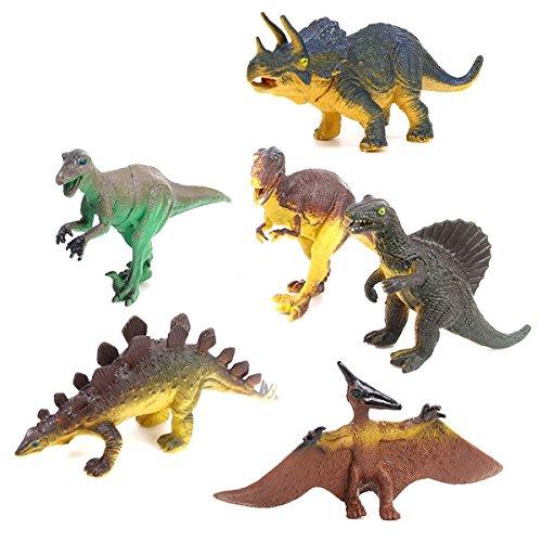 WINOMO 6pcs dinosaures Tyrannosaurus Stegosaurus Triceratops Utahraptor ptérosaure Spinosaurus jouet éducatif