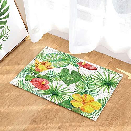 Plant decoratie aquarel palmboom bloem achthoekige Kinderbadkamer tapijt toiletdeur mat woonkamer 40X60CM badkameraccessoires