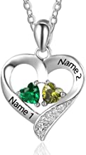 Bannad Women Plated Crystal Necklaces Love Heart Pendants Girls Wedding Party Jewelry Accessories Valentines Day Anniversary Souvenir Birthday Gifts for Her