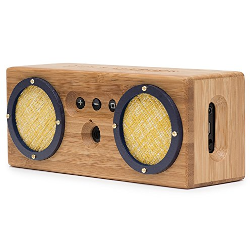 Bongo Bamboo Retro Bluetooth Speakers - Portable Wireless Handcrafted Wood Speaker for Travel, Home,...