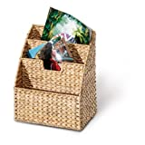 Revistero, cesta para revistas, 3 compartimentos, 300 x 210 x 140 mm, hecho de...