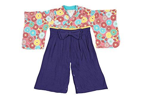 巫女服風ベビー用ロンパース【247154】90cmパープル