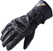 Motorcycle Gloves Winter Warm Touch Screen Waterproof Windproof Protective clothing (Black, XL)