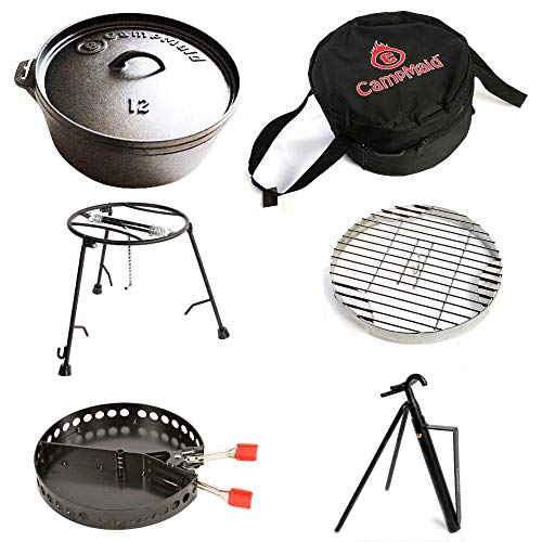 """6-Piece Dutch Oven Set With 12"""" Dutch Oven Without Legs"""