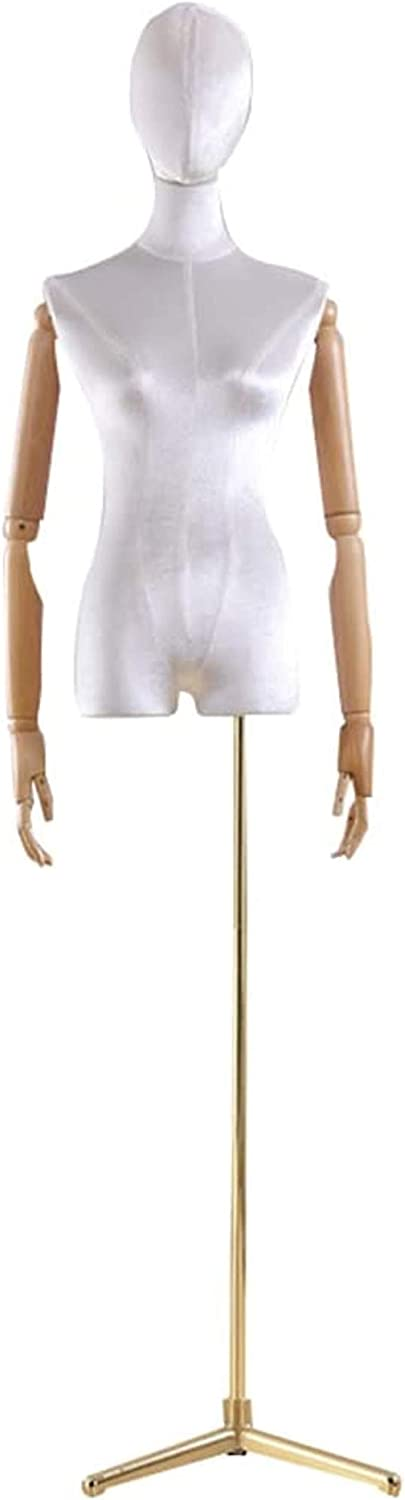 Professional OFFicial Female Superior Mannequin Torso Body Form Head Dress Window