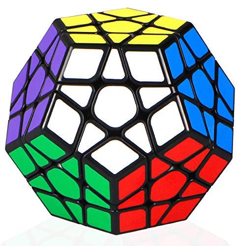 TOYESS Cubo Megaminx 3x3x3, Dodecaedro Cubo de Velocidad Rompecabezas Puzzles 3D para Niño Adultos, Negro