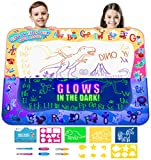 Kids Water Doodle Drawing Pad Mat Gift Toy Aqua Magic Board Set for Toddlers,...