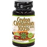 100% cannella di Ceylon | 80 capsule x 300 mg (fornitura per 40 giorni) | Qualità Premium | Senza additivi | Alto assorbimento | Potente antiossidante naturale di Cvetita Herbal