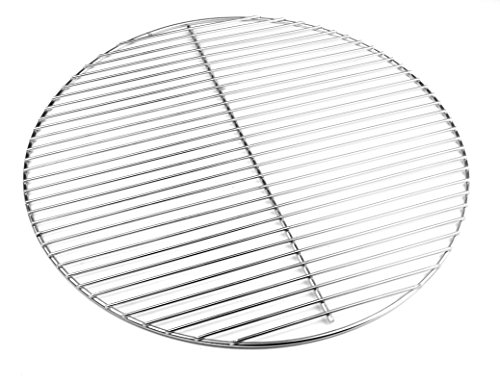 Hero - Parrilla de acero inoxidable (54,5 cm, 4/3 mm, para barbacoas de 55-56 - 57 cm, también para Weber 57)