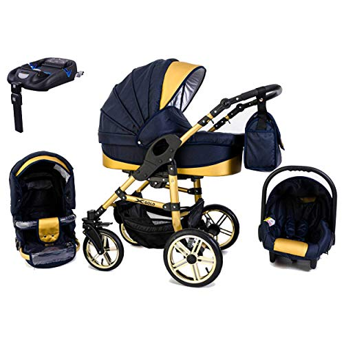 Tabbi ECO X GOLD | 4 in 1 Kombi Kinderwagen Luft Blue