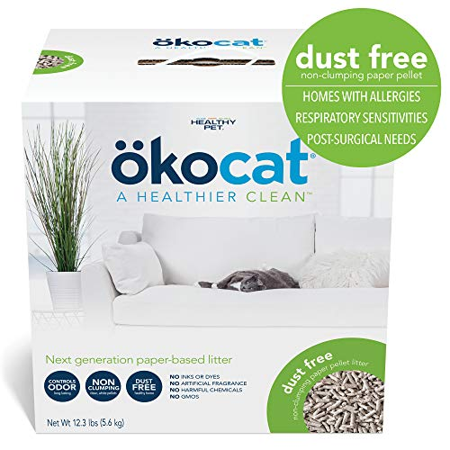 ökocat Natural Paper Cat Litter, Dust Free (Package may vary)