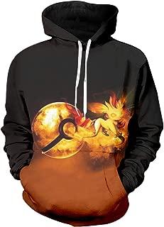 Mens Hoodies Sweatshirts Hip Hop Anime O-Neck Long Sleeve Black Hoodie