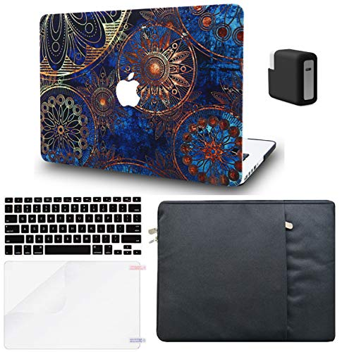 LuvCase 5in1 LaptopCase forMacBookPro 13'(2020/2019/2018/2017/2016)+/- Touch Bar A2159/A1989/A1706/A1708 HardShell Cover,Sleeve,Charger Case,Keyboard Cover,Screen Protector(Bohemian)