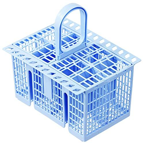 SPARES2GO Cesta para cubiertos compatible con lavavajillas (azul, 220 x 208 x 160 mm)
