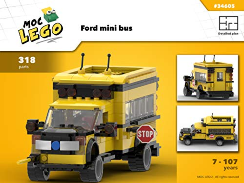 Ford mini bus (Instruction Only): MOC LEGO (English Edition)