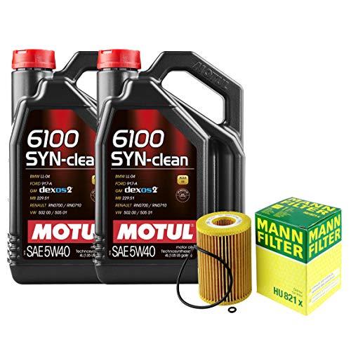 8L Motul 6100 SYN-CLEAN 5W40 Mann Filter Motor Oil Change Kit X166 GL350 Turbo For Mercedes-Benz GL350 3.0L V6 Bluetec 4Matic Turbocharged DIESEL FI 2013-2016 3.0L Turbocharged Diesel / MB 229.51