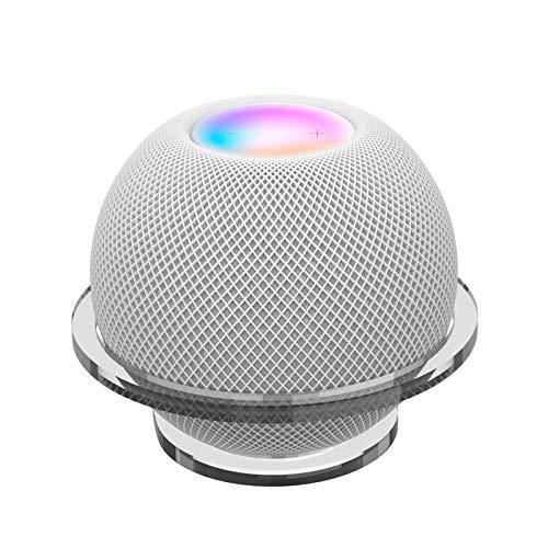 B/S Wandhalterung für HomePod Mini Lautsprecher Halterung Ständer perfekte Kabel-Management, Mini-Halterungsetui für Küchen, Badezimmer, Schlafzimmer (nur Halterung) (transparent)