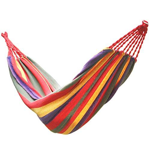 MONEYY des hamacs Simple Double épaisseur Toile Piscine Camping Piscine Swing Loisirs 190 * 80cm Chambre à Coucher
