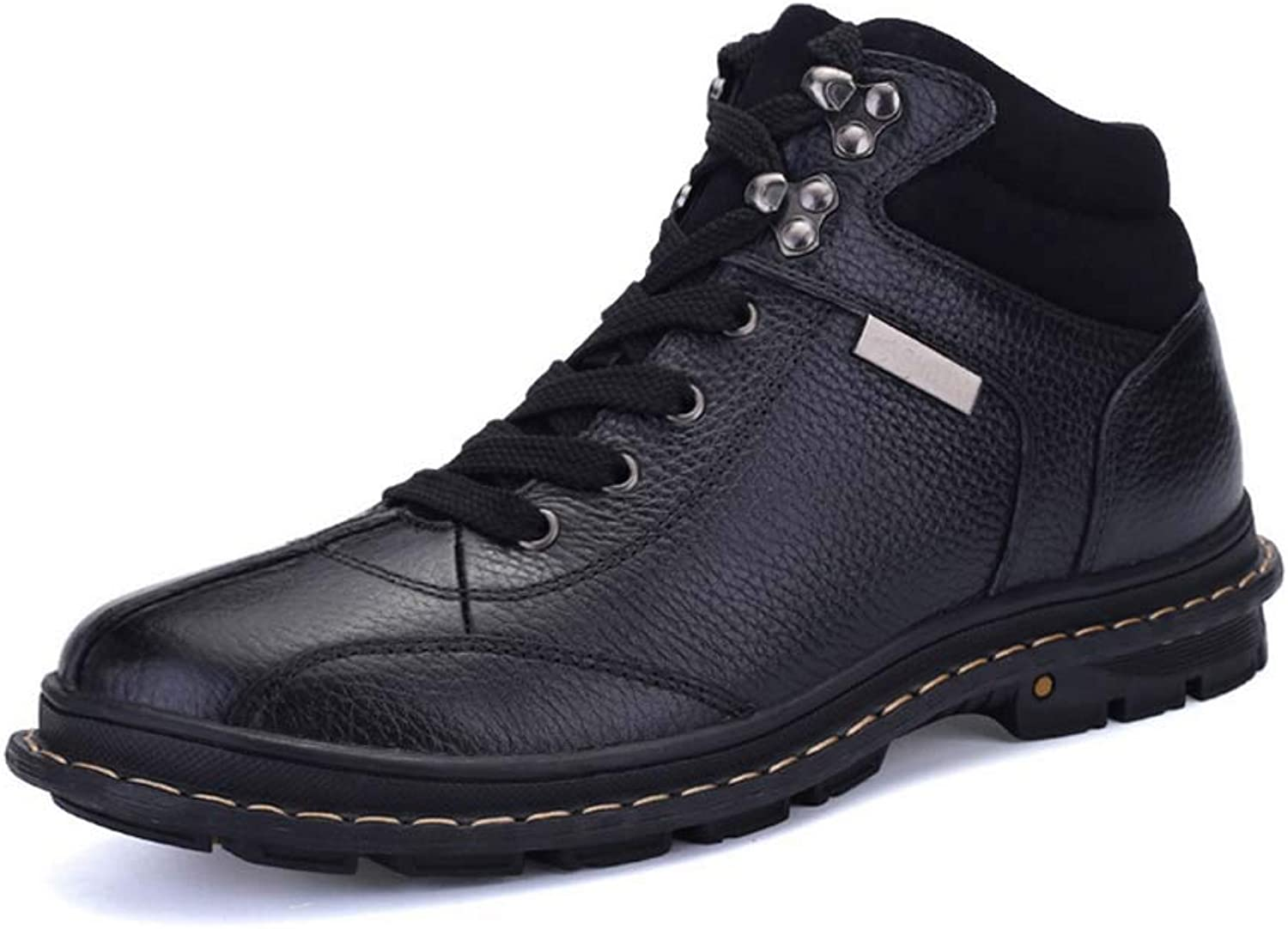 Men Outdoor Walking Boots Autumn Winter New Leather Boots High Top Martin Boots Large Size