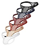Pdbokew Men's Transparent Thong Underwear Comfty Lace Pouch Underwear 6PACK M