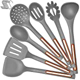 Silicone Cooking Spoon Kitchen Utensil Set - IELECMG Cooking Utensils Dishwasher Safe 500℉ Heat...