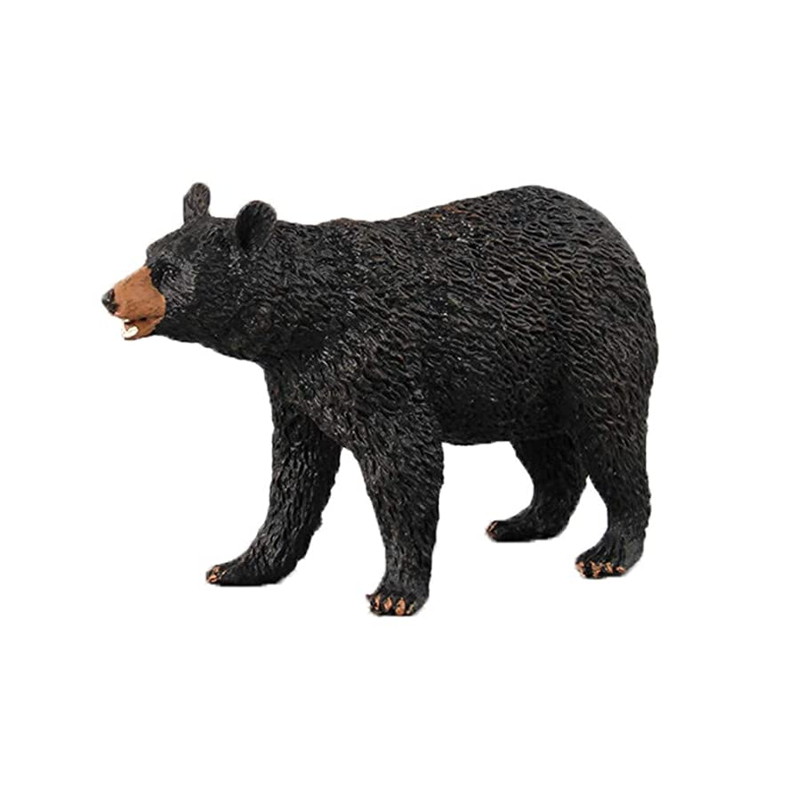 Vibola Action Figure Cute Animal Toy,Cartoon Black Bear Figurine Model Gift,Ornament Toys for Boys and Girl Kids,Realistic Animals Action Model (D)