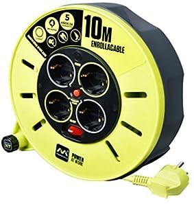 LUCECO CME10164SL-PX Enrollacable, 3000 W, 250 V, Gris/Verde Pistacho