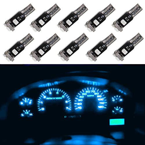 WLJH 10 pz Auto LED Lampadina T5 74 2721 Ice Blue LED Lampadina 12V 3020-5SMD LED Speedometer Dash Gauge Light-2 anni di garanzia