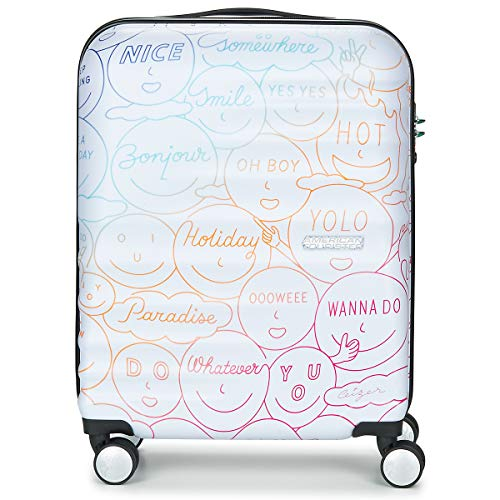 AMERICAN TOURISTER WAVEBREAKER X CEIZER 55CM 4R Suitcase hommes White/Multicoloured - One size - Hard Suitcases